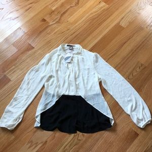 Black and ivory button down